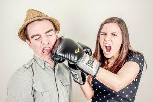 nie kłóć się z mężczyzną